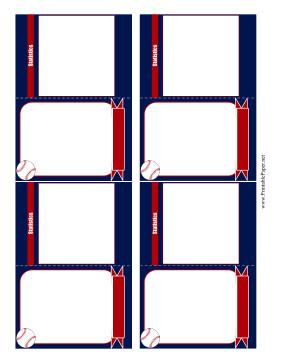 Baseball Card Template Free Printable Baseball Card Template