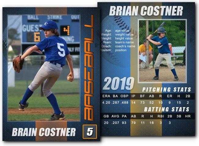 Baseball Card Template Photoshop 15 Psd Football Trading Card Baseball Trading
