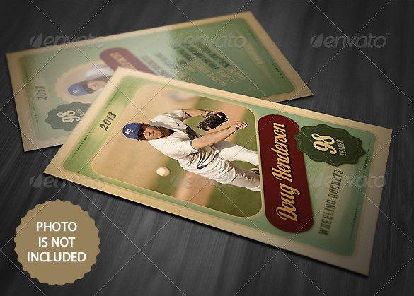 Baseball Card Template Photoshop 16 Baseball Card Templates Psd Ai Eps