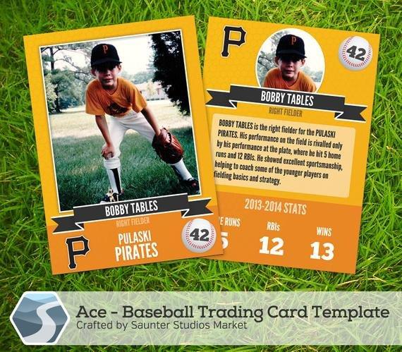 Baseball Card Template Photoshop Ace Baseball Trading Card 2 5 X 3 5 Shop by