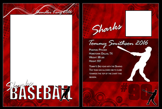 Baseball Card Template Photoshop Baseball Cutout Trading Card Shop & Elements