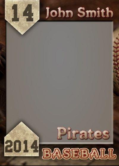 Baseball Card Template Photoshop Baseball Trading Card Shop Template by Gobluskydesign