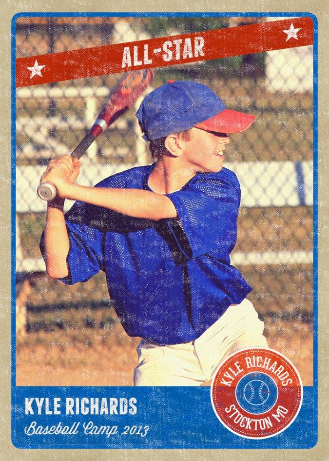 Baseball Card Template Photoshop Graphy Card Template Retro Sports Baseball