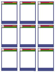 Baseball Card Template Word Baseball Card Templates Free Blank Printable Customize