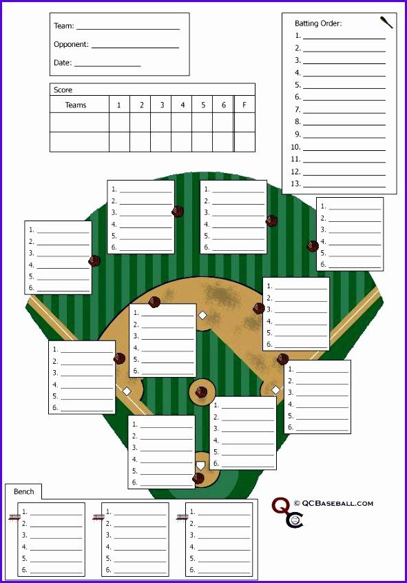 Baseball Depth Chart Template 12 Baseball Lineup Excel Template Exceltemplates