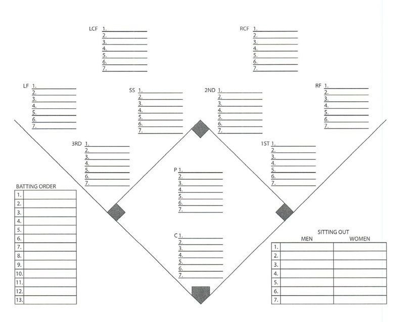 Baseball Depth Chart Template Psl tools for Player Usage softball Templates