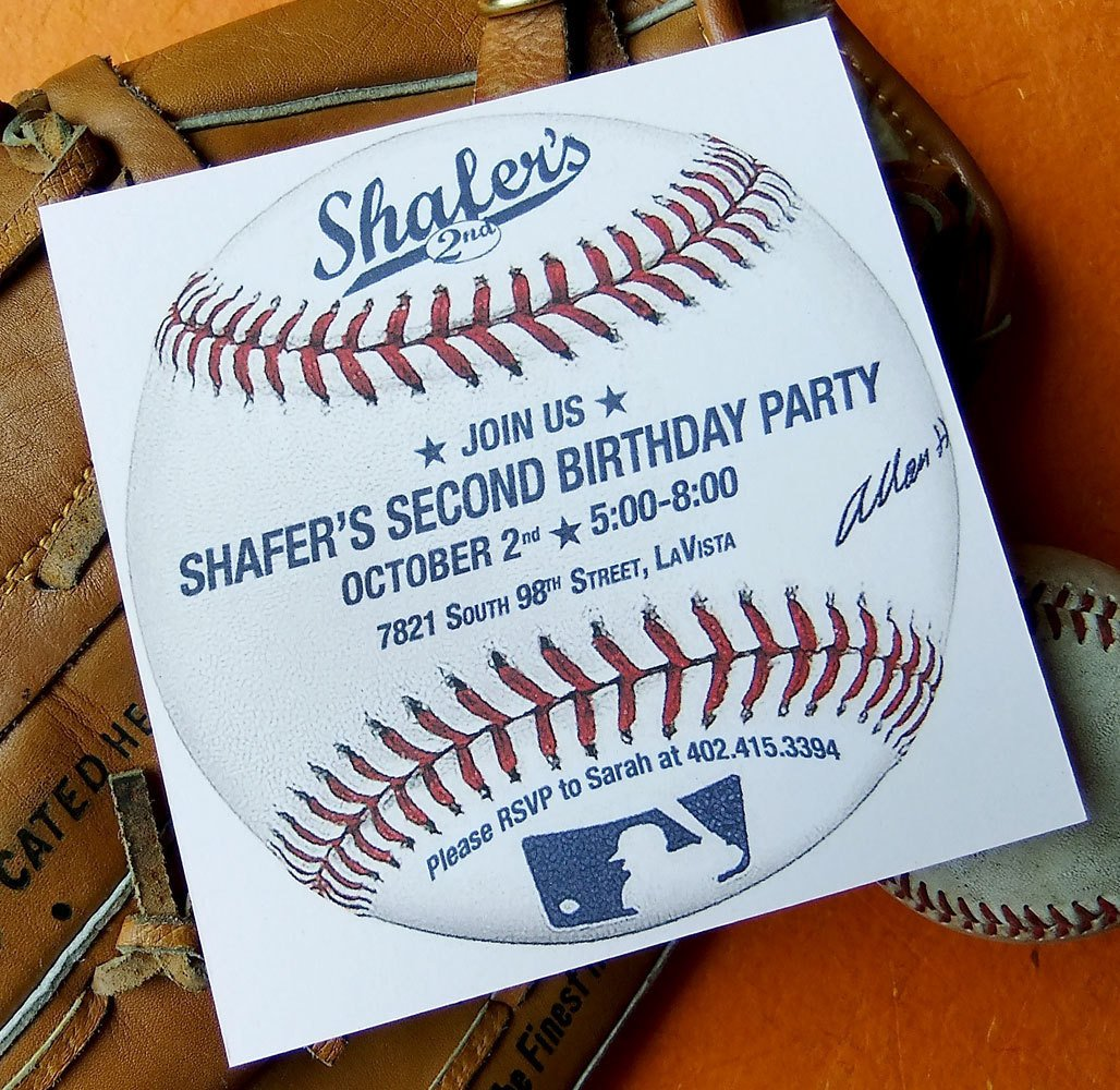 Baseball Invitation Template Free Baseball Birthday Invitation Custom Printable Invite Pdf