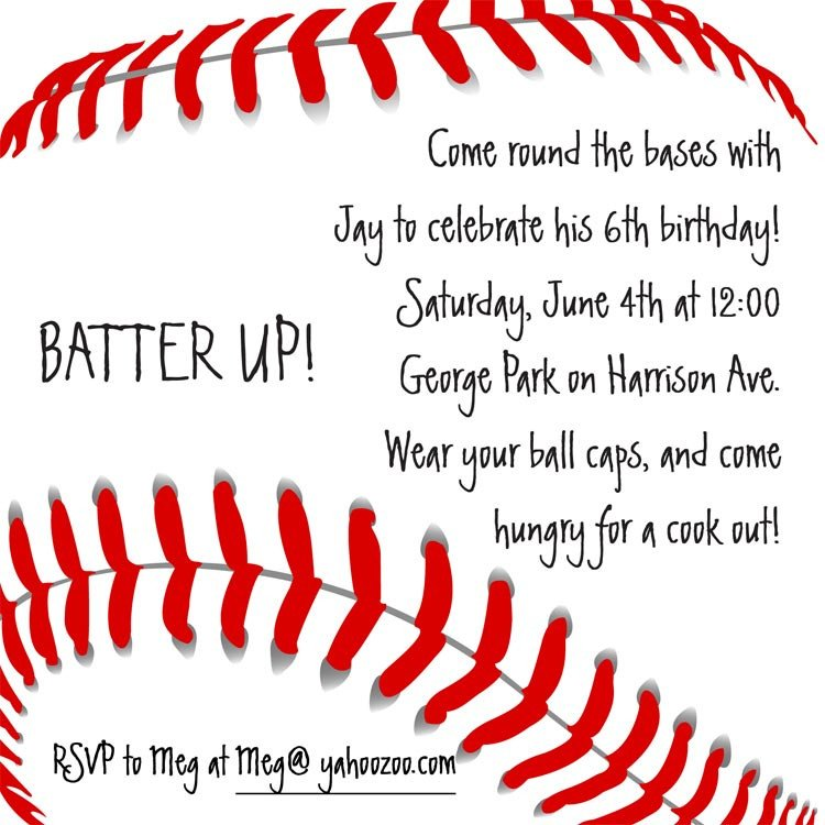 Baseball Invitation Template Free Baseball Invitation Birthday Invitations From Cardsdirect