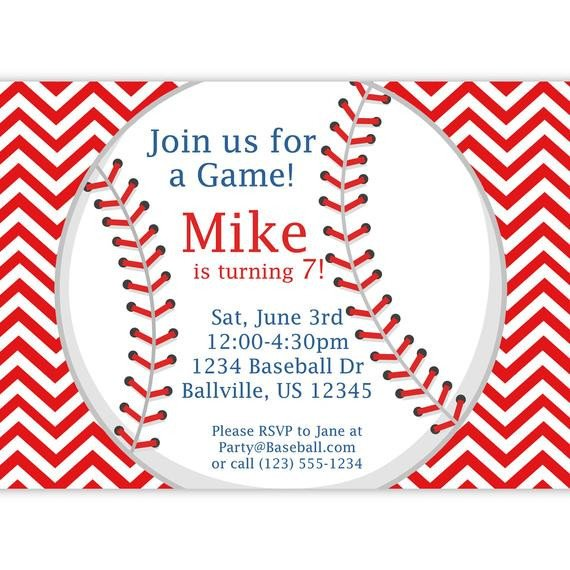 Baseball Invitation Template Free Baseball Invitation Red Stripe Chevron Baseball Ball