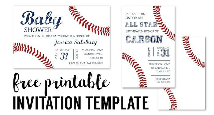 Baseball Invitation Template Free Baseball Party Invitations Free Printable Paper Trail Design