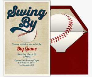 Baseball Invitation Template Free Free Baseball Invitations Ticket Designs & More Evite