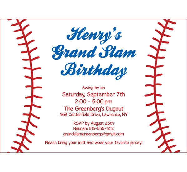 Baseball Invitation Template Free Sports