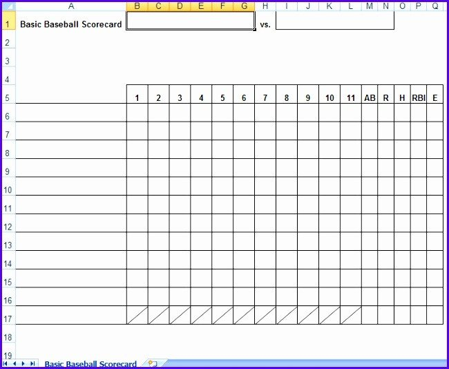Baseball Lineup Card Template 12 Baseball Lineup Excel Template Exceltemplates