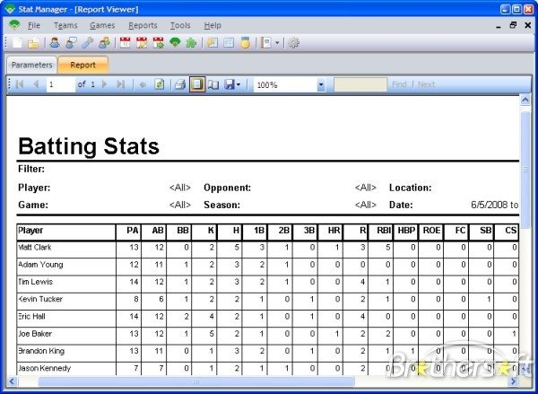 Baseball Stat Excel Template Baseball Stat Manager Free Download