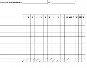 Baseball Stat Excel Template Baseball Stat Sheet