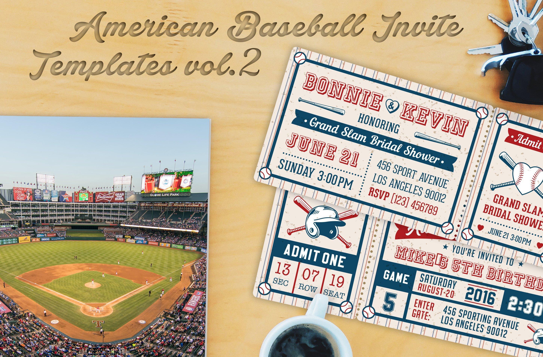 Baseball Ticket Invitation Template Free Baseball Ticket Party Invites 1 Invitation Templates