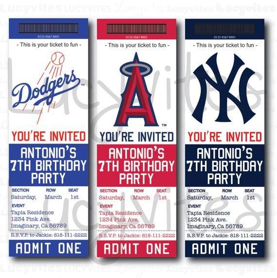 Baseball Ticket Invitation Template Free Unavailable Listing On Etsy