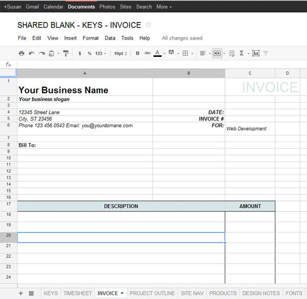 Basic Invoice Template Google Docs Google Docs Invoice Template