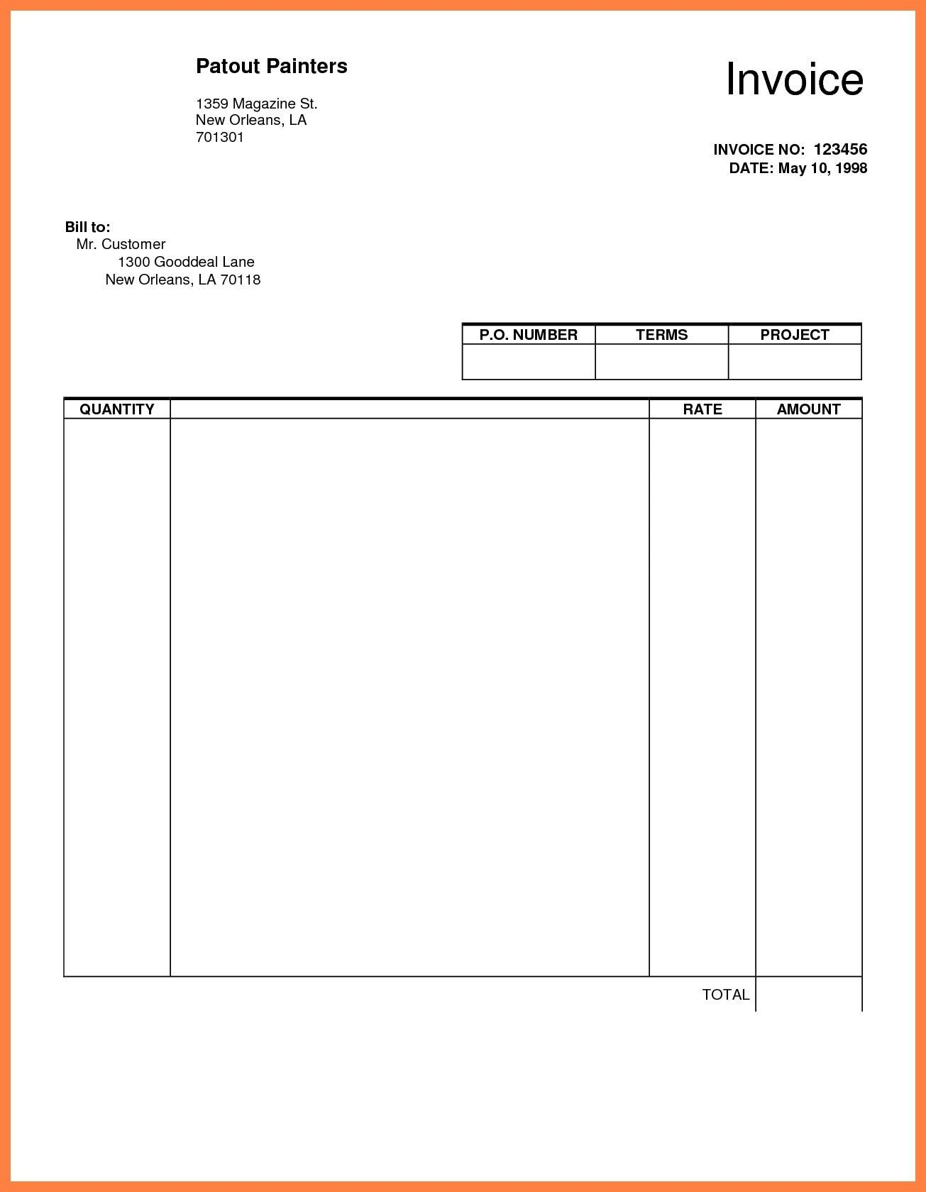 Basic Invoice Template Google Docs Google Docs Template Templates Word Google Docs Templates