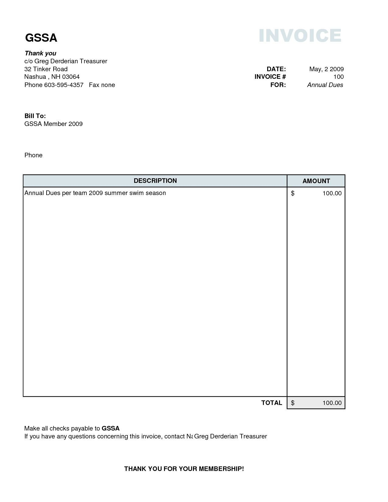 Basic Invoice Template Word Plain Invoice Template Basic Invoice Template Excel Basic