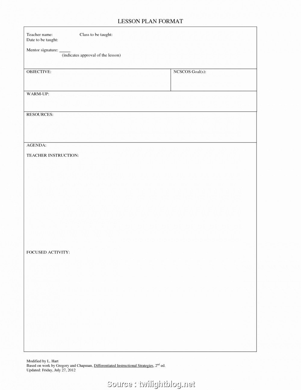 Basic Lesson Plan Template 6 Nice Basic Lesson Plan Template Secondary