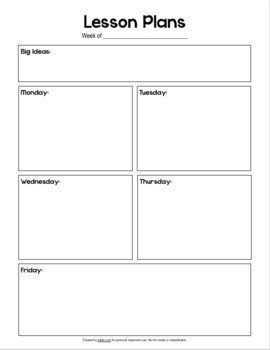 Basic Lesson Plan Template Basic Lesson Plan Template No by Melissa Schaper