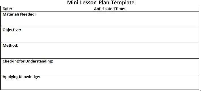 Basic Lesson Plan Template Basic Lesson Plan Template Sample Simple Lesson Plan