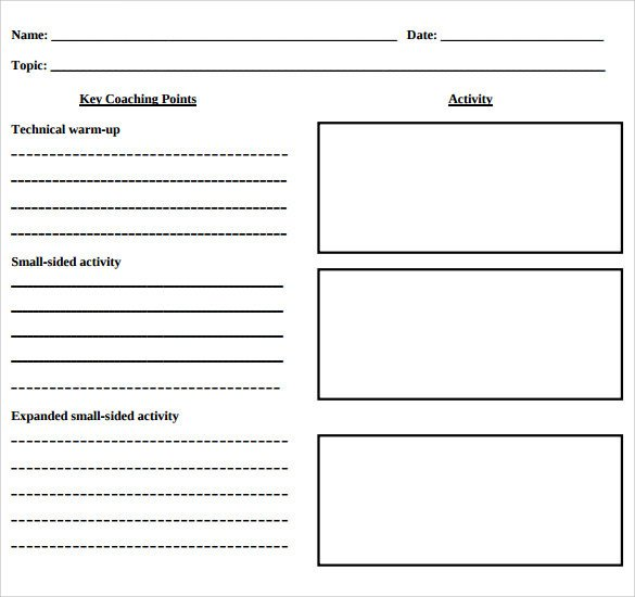 Basic Lesson Plan Template Blank Lesson Plan Template 11 Download Free Samples