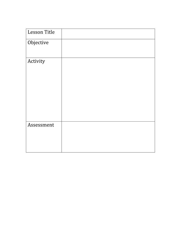 "Basic Lesson Plan Template Search Results for ""lesson Plan format"" – Calendar 2015"