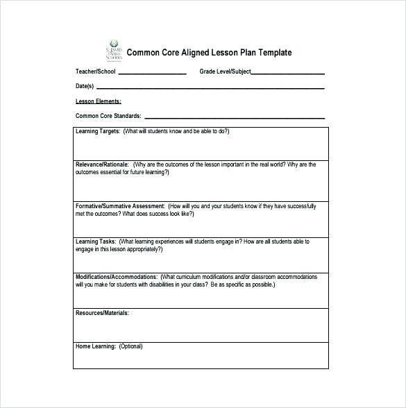 Basic Lesson Plan Template Unit Lesson Plan Template Doc – Daily Lesson Plan Template