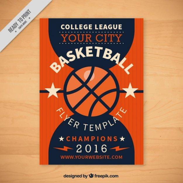 Basketball Flyer Template Free Basketball Flyer Template Vector