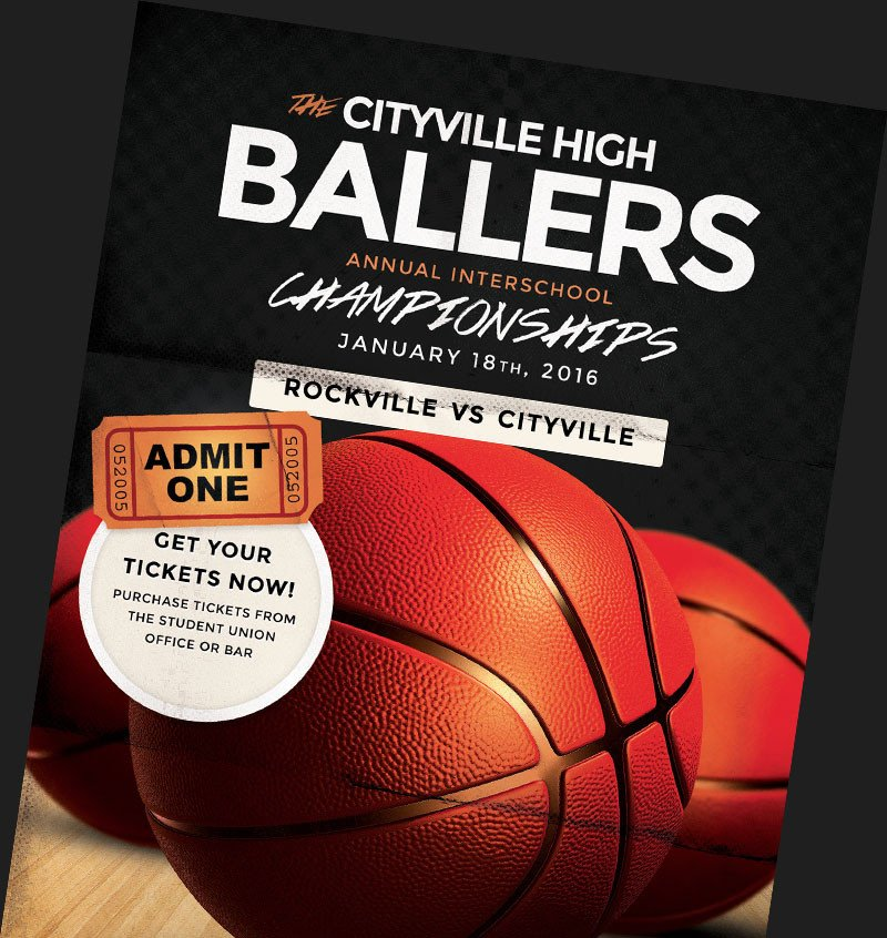 Basketball Flyer Template Free Basketball Flyer Templates for Basketball event Promotions