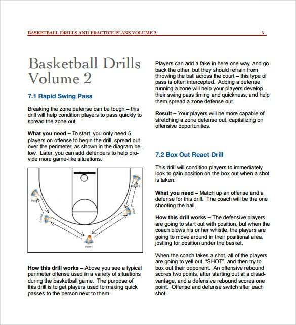 Basketball Practice Plan Template 11 Basketball Practice Plan Templates Free Sample