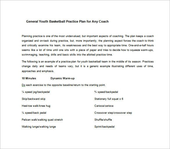 Basketball Practice Plan Templates Basketball Practice Plan Template 3 Free Word Pdf