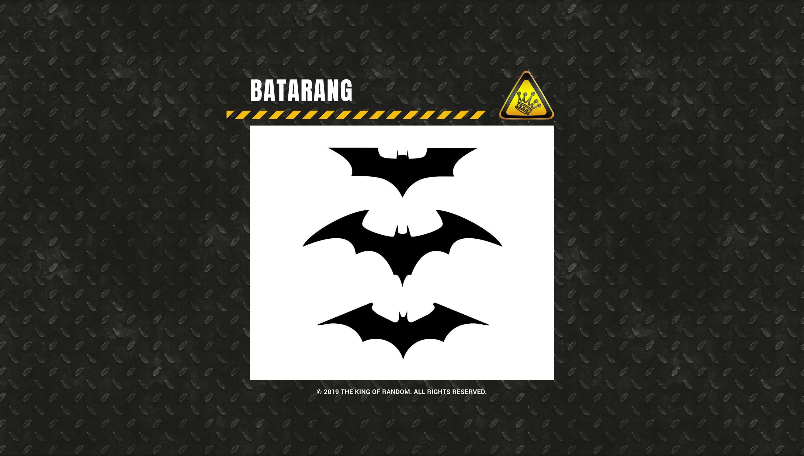 Batarang Template Pdf Batarang Template the King Of Random