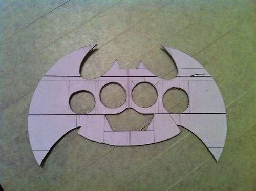 Batarang Template Pdf Knuckle Dusters Batarang