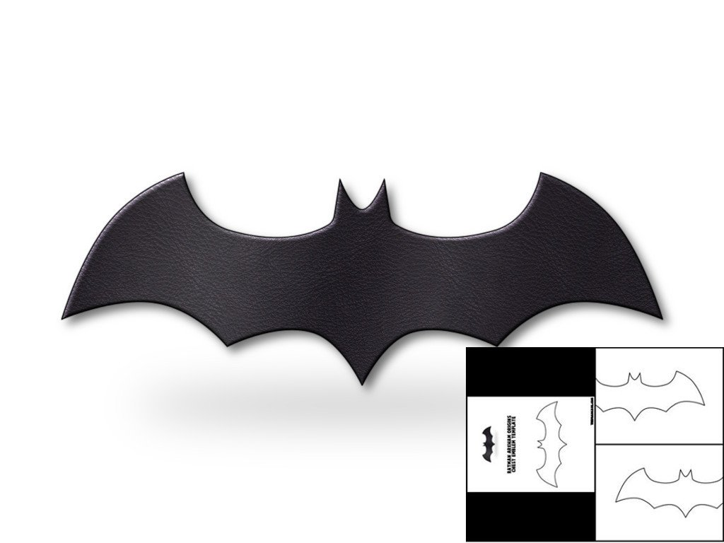 Batarang Template Pdf Template for Batman Arkham origins Chest Emblem – the Foam