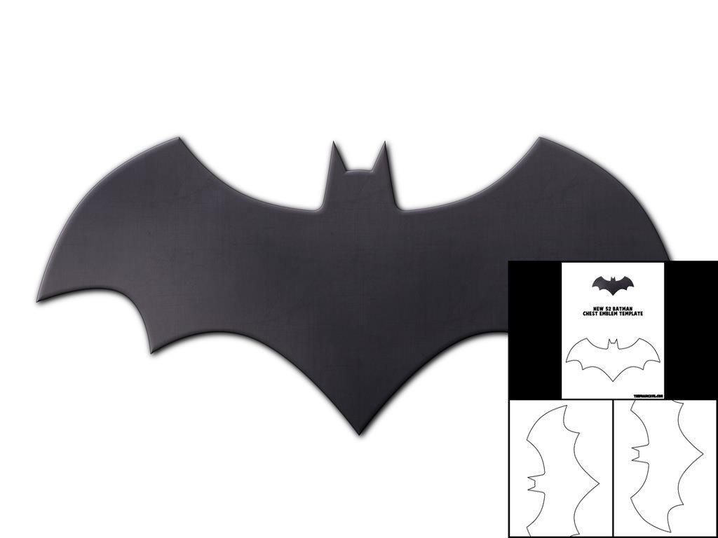 Batarang Template Pdf Template for New 52 Batman Chest Emblem – the Foam Cave