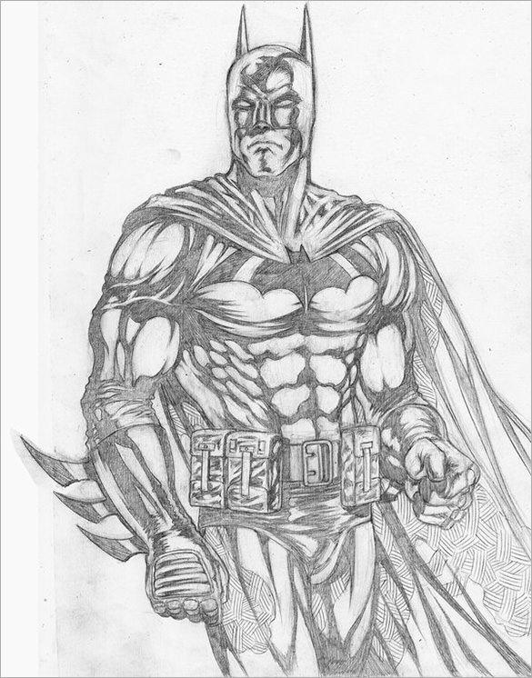 Batman Drawing In Pencil 20 Fantastic Batman Drawings Download