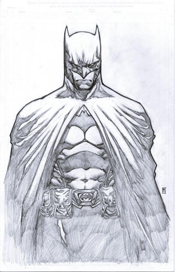 Batman Drawing In Pencil 40 Magical Superhero Pencil Drawings