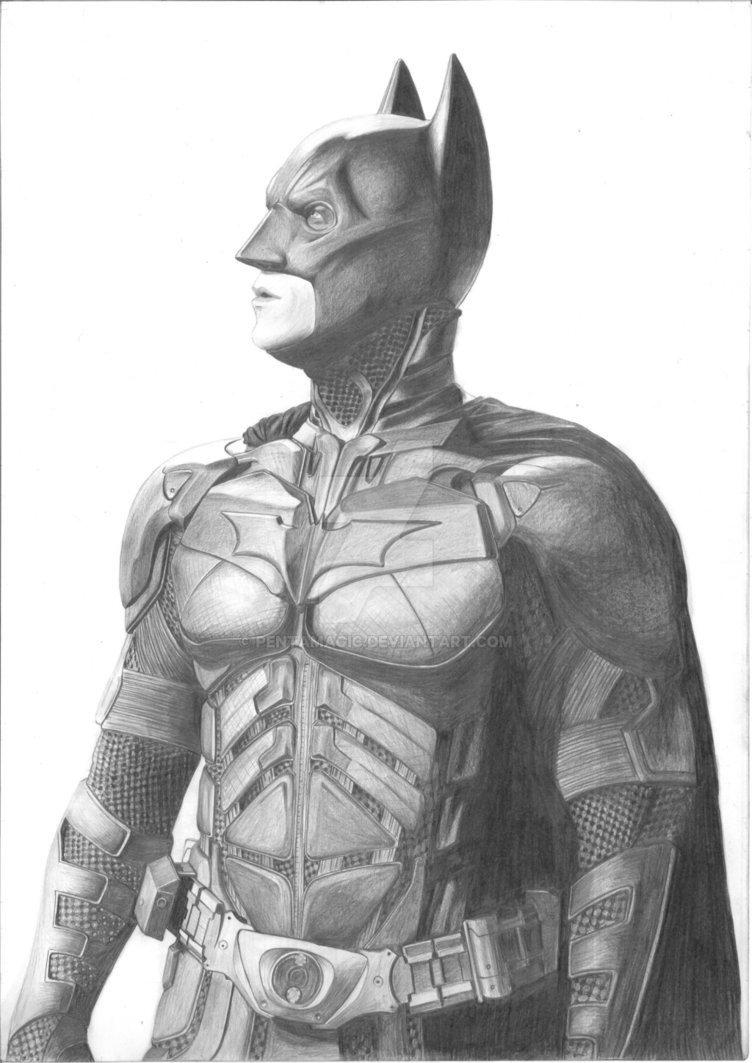 Batman Drawing In Pencil Batman Dark Knight Sketch Christian Bale by Pentamagic