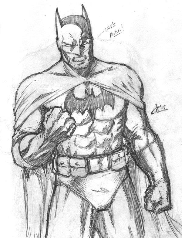 Batman Drawing In Pencil Batman Simple Drawing at Getdrawings
