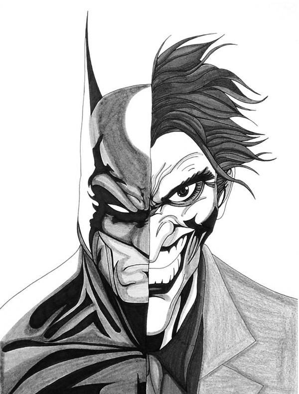 Batman Drawing In Pencil Drawn Batman Batman Joker Pencil and In Color Drawn