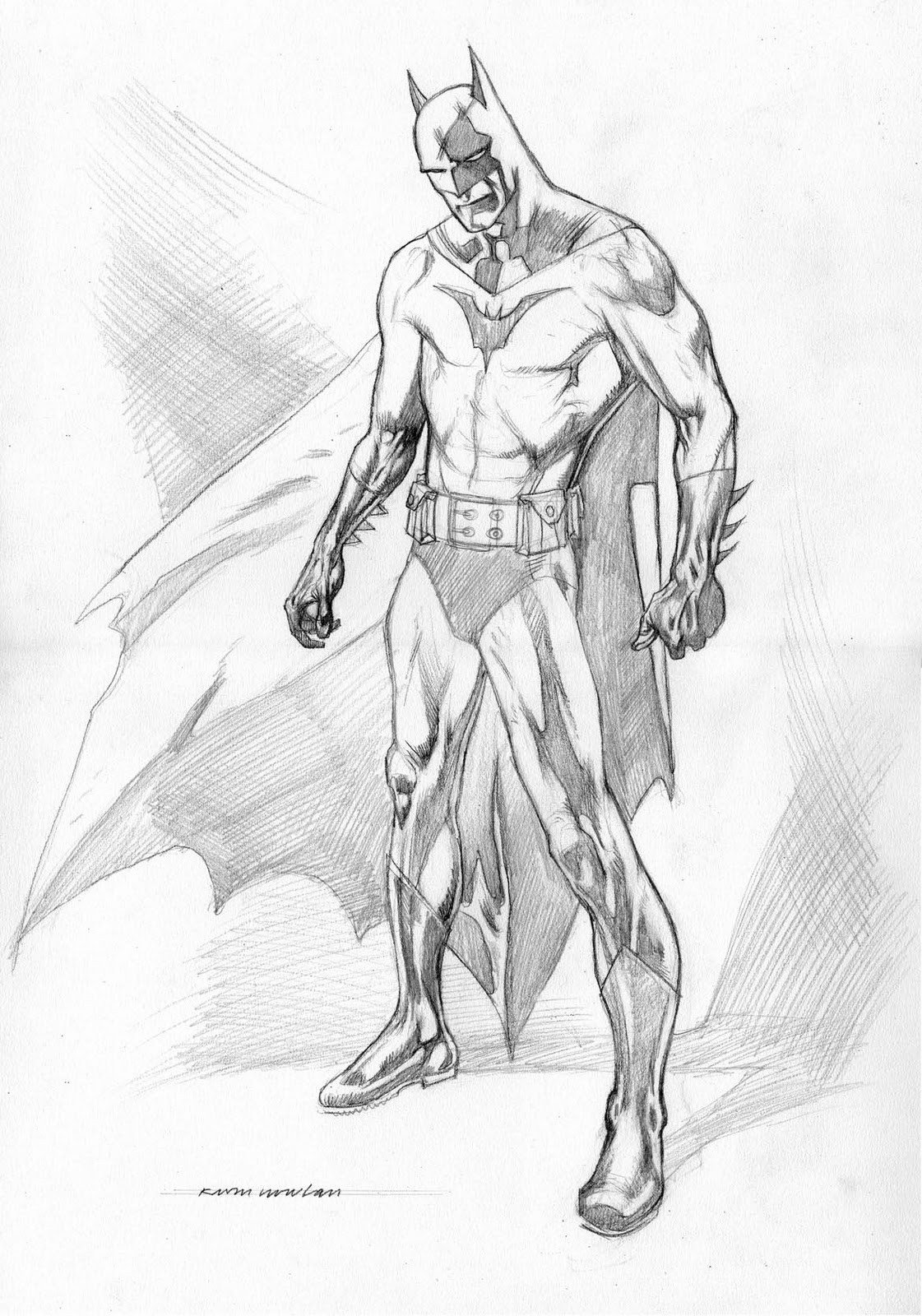 Batman Drawing In Pencil Kevin nowlan October 2010