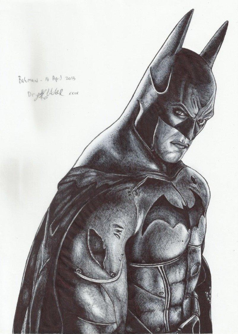 Batman Drawing In Pencil Pen Vs Pencil – the Nerd Nebula