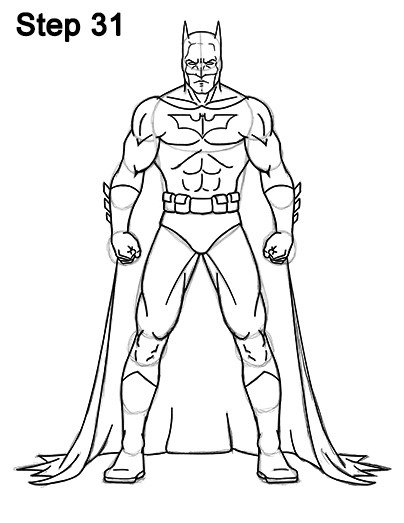 Batman Pictures to Draw How to Draw Batman Full Body