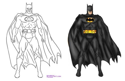 Batman Pictures to Draw How to Draw Batman On Pinterest