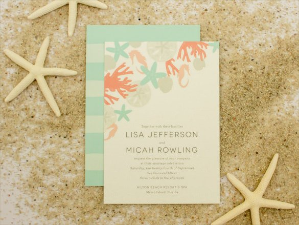 Beach Wedding Invitation Templates 26 Beach Wedding Invitation Templates Psd Ai Word