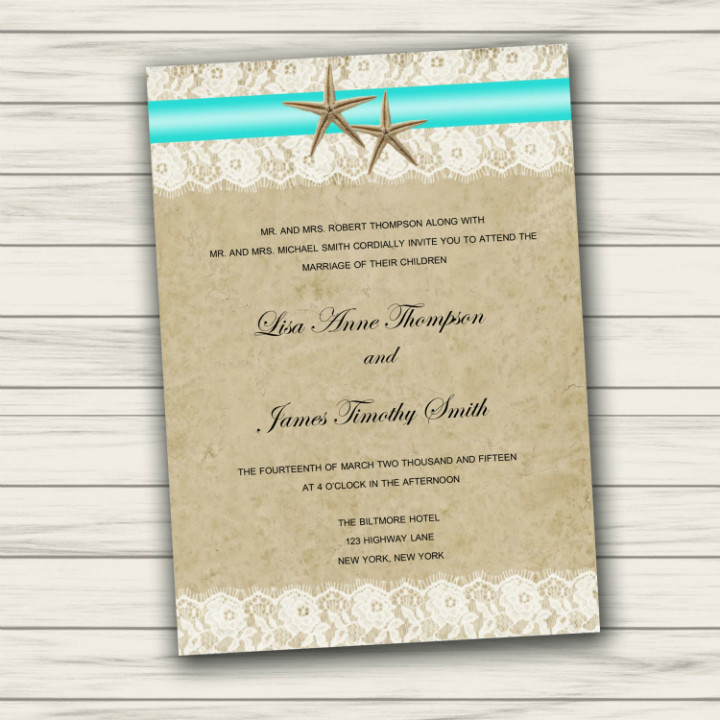 Beach Wedding Invitation Templates 36 Adorable Beach Wedding Templates Word Psd Ai