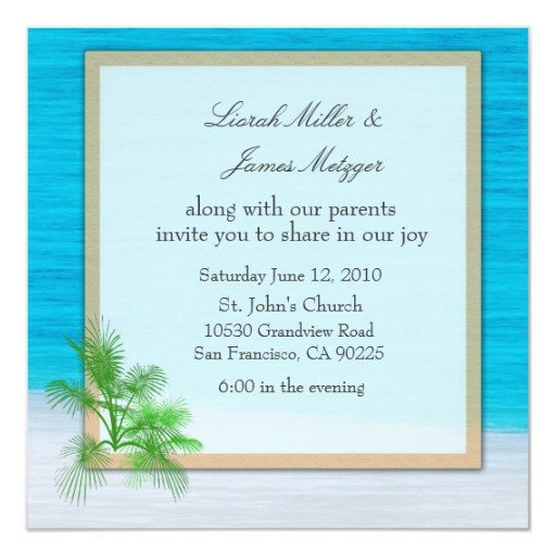 Beach Wedding Invitation Templates Beach Wedding Invitation Template